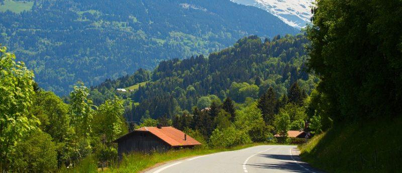 Driving to Chamonix