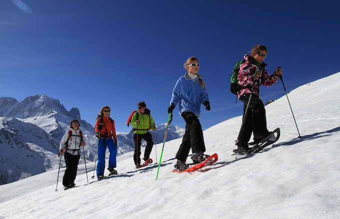 Chamonix ski holiday, chamonix activities, snow shoeing