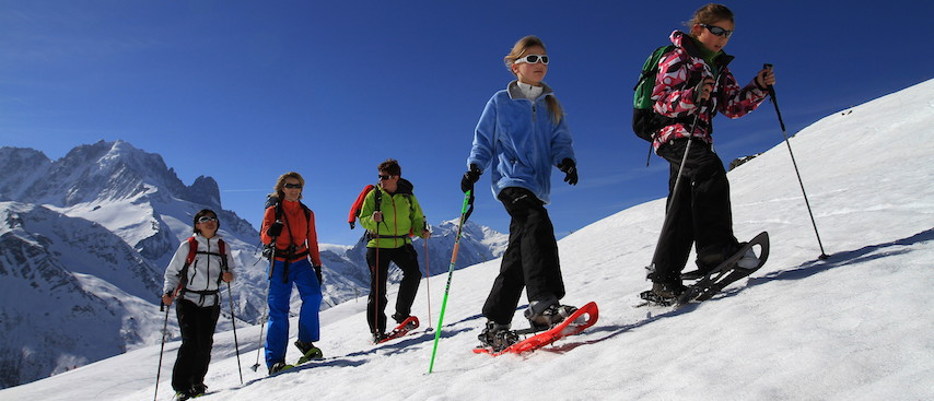 chamonix ski holiday, chamonix activities, snow shoeing