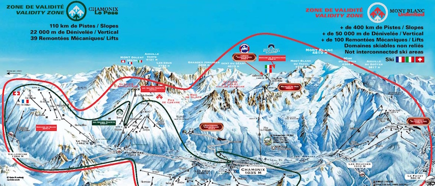 Chamonix Ski Maps Area Guide Chamonix All Year