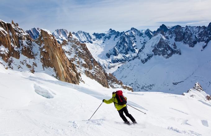 chamonix winter holiday, chamonix ski holiday, chamonix ski area, vallee blanche
