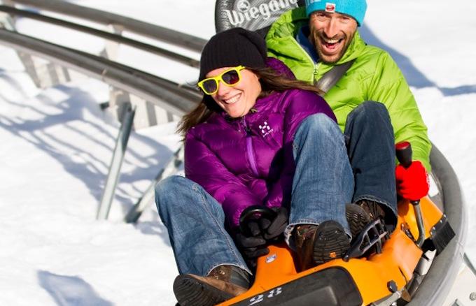 chamonix ski holiday, chamonix winter holiday, winter luge, chamonix activities