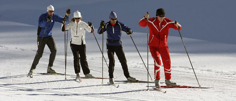 chamonix winter holiday, chamonix ski holiday, cross country skiing