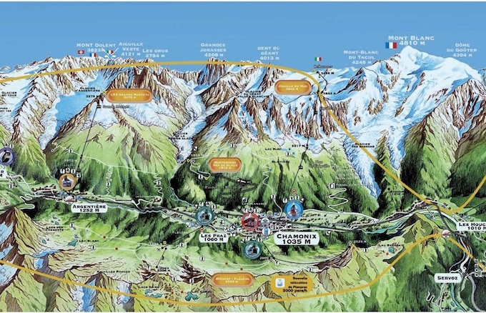 Chamonix Summer Holiday(s), Summer lift pass, Chamonix map