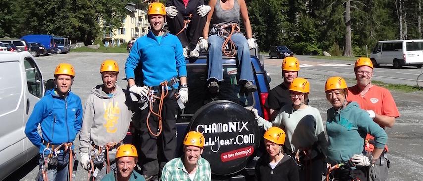 Chamonix All year team photo, chamonix holiday, chamonix accommodation