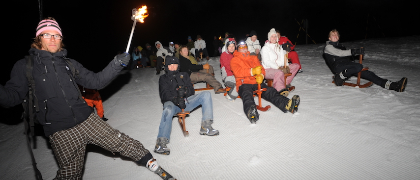 Chamonix ski holiday, chamonix activities, paret sledging