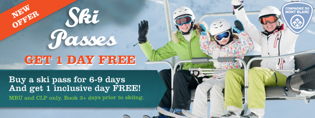 Chamonix lift pass offer - get one day free
