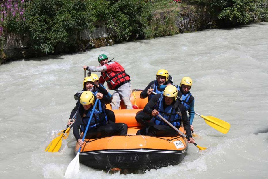 Rafting in Chamonix