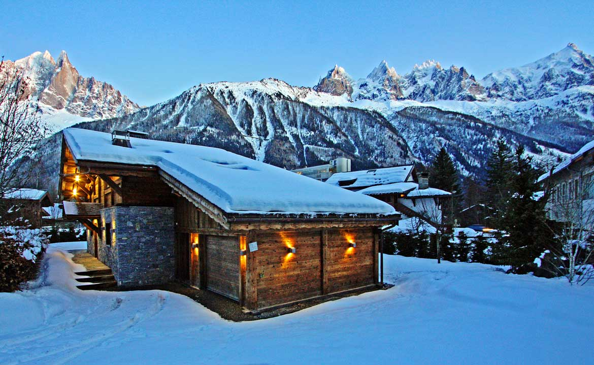 Chalet les Praz winter homepage