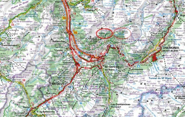 map-of-plaine-joux-lac-vert Chamonix mums