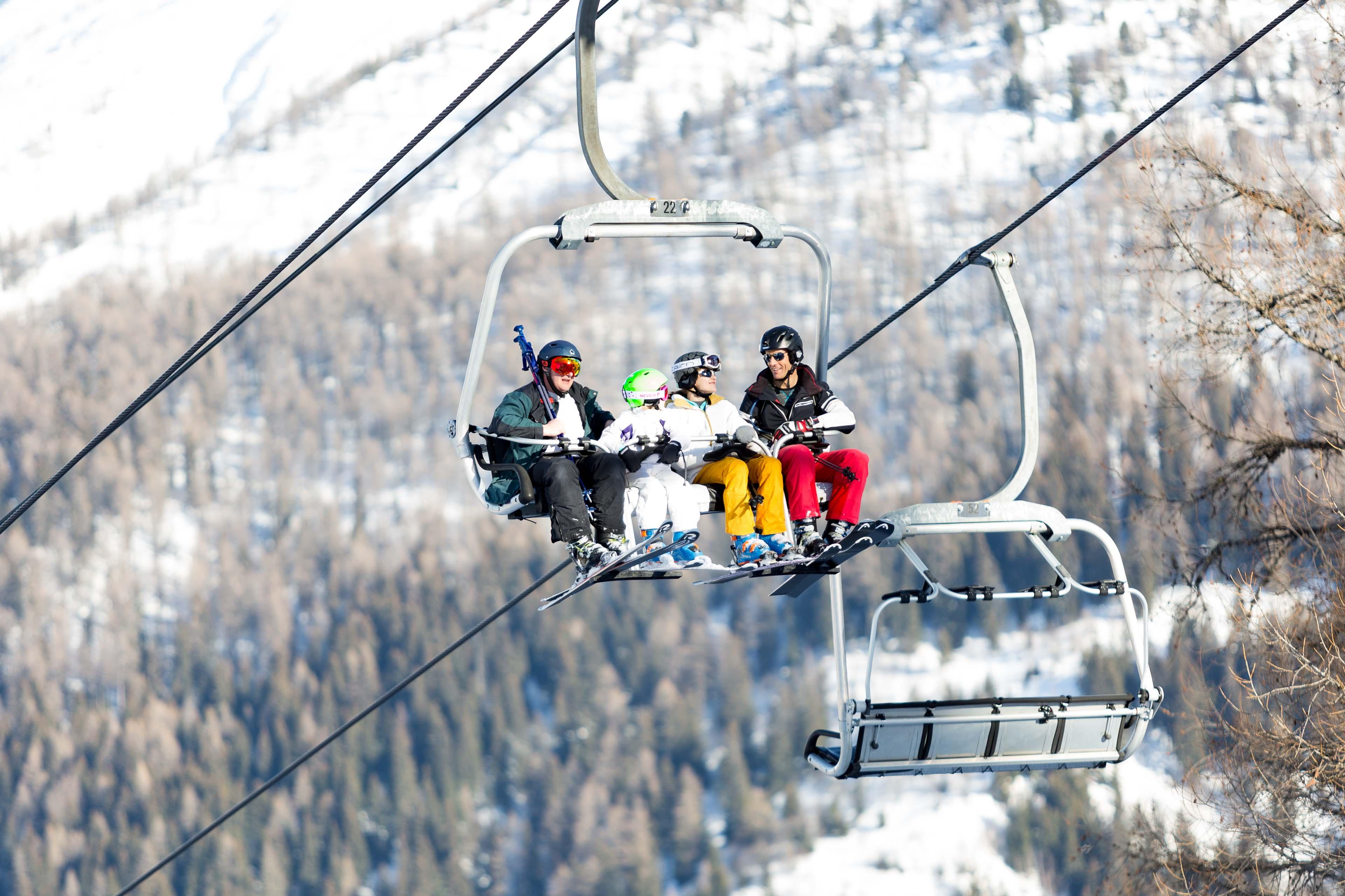 Ski lift at Brevent Flegere guide to chamonix