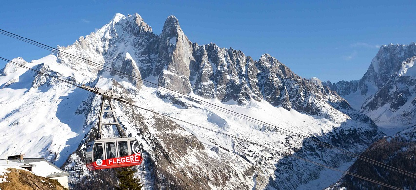 flegere-cable-car New in Chamonix Winter 2018-19