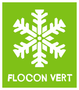 logo flocon - vert Chamonix eco-friendly holiday