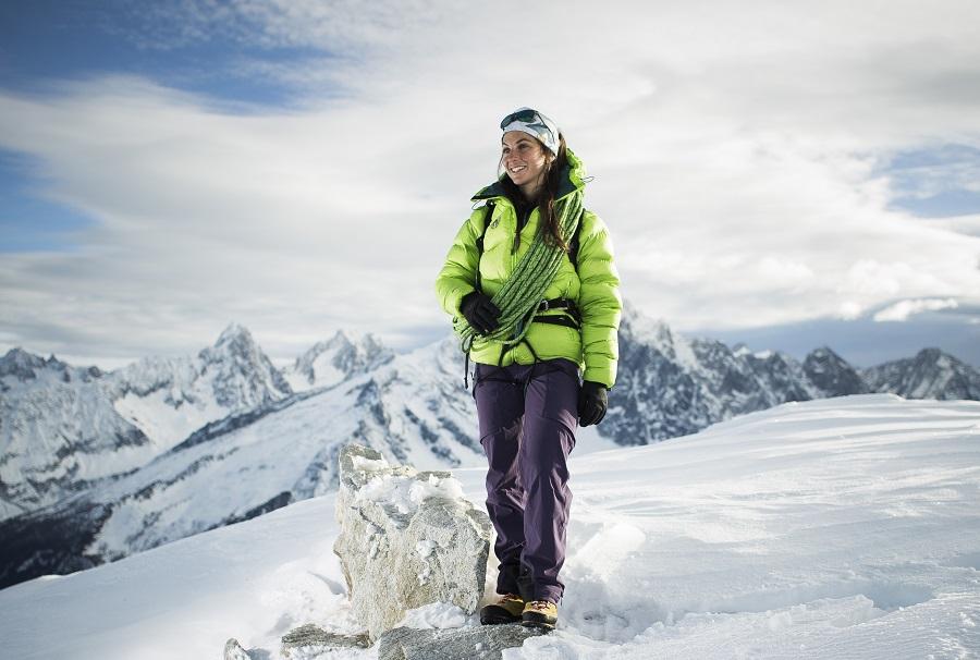 CHAMONIX, le 22 décembre 2017 Portrait de femmes guide de haute montagne diplômée en 2017 ci contre Fanny SCHMUTZ femmes dans l'alpinisme