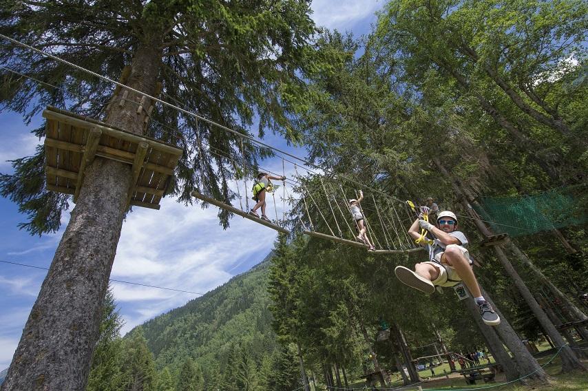 tree-park-contamines les parcs d'aventure de Chamonix
