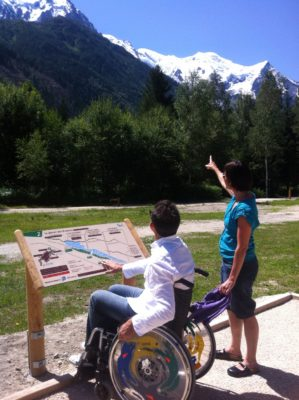 bois-du-bouchet Disabled visitors coming to Chamonix