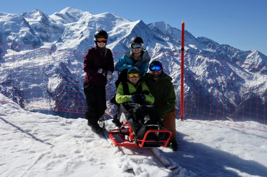 tandem-skiing-photo-kirsten-taylor Disabled visitors coming to Chamonix
